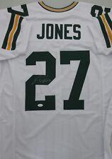 Packers JOSH JONES Signed White Custom Jersey AUTO #8159 - JSA