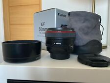 Mint condition Canon EF 50mm f/1.2L USM Lens