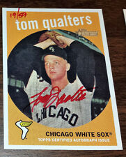 2008 Topps Heritage Real One RED INK Tom Qualters 1959 White Sox #19/59 AMAZING#