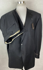 NWT! Jack Victor Exclusive 100% Wool 2 Button Suit 56L 51 Waist Big and Tall