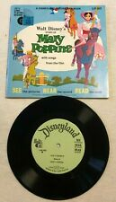Vintage 1965 Walt Disney Disneyland MARY POPPINS Record and Book LLP 302