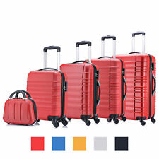 5 tlg Koffer Set Rot Hartschalenkoffer Reisekofferset Trolley Hartschale B-Ware
