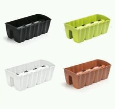 CROWN MODERN flower pot bridge for railing balcony box, 4 colours and 3 sizes