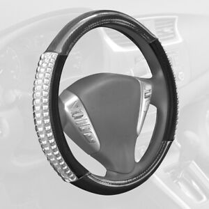 Cushion Grip Leather Steering Wheel Cover Insulated Cooling Gel by Sharper Image