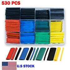 530 Pcs Heat Shrink Tubing 21 Wire Insulation Cable Wrap Assortment Kit