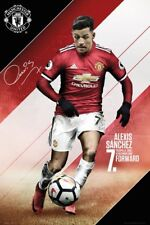 ALEXIS SANCHEZ - MANCHESTER UNITED POSTER - 24x36 FOOTBALL SOCCER FC 34322