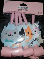 Creative Converting Purr-Fect Cat Party Blowouts Horns Kitten Pet Favor Birthday