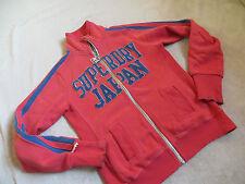 """""""""""SUPERDRY"""""""" Damen Baumwoll Sweatshirt Jacke rot mit Motiv Jacke Gr. S"""