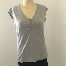 Banana Republic women's clothing blouse size M gray sleeveless Good condition