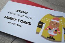 Personalised Christmas Money Wallet Pocket Gift Card Star Wars Chewbacca santa