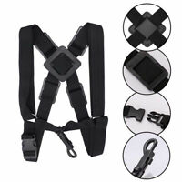 Saxophone Shoulder Strap Black Back Belt Adjustable Sax Harness For Alto/Tenor