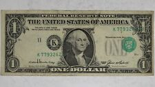 1985 $1 FEDERAL RESERVE ERROR NOTE CIRCULATED FINE+ PLUS 3RD PRINTING SHIFT 621B