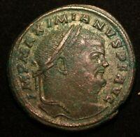 MAXIMIANUS IMPERIAL ROMAN AS COIN  - XF CONDITION