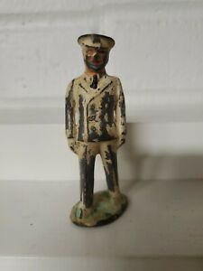 RARE BARCLAY NAVAL OFFICER TIN TOP DIMESTORE SOLDIER ARMY FIGURE HARD TO FIND