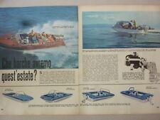 ARTICOLO BARCHE : ACQUARAMA - EVINRUDE - BOSTON WHALER  --1964