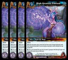 4x High Arcanist Eldrissa Caverns of Time Epic 41 World of Warcraft WoW TCG Rare