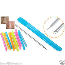 2pcs Stainless Steel Blackhead Pimples Acne Needle Tool Spots Clean Treatment