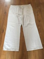 Ladies Linen Trousers Size 18 Beige