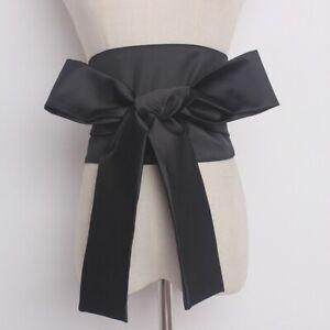 Women Wide Japanese Obi Belt Satin Faux Silk for Kimono Yukata Waistband Vintage