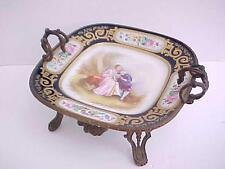Gorgeous 18th c. French Sevres Porcelain Centerpiece Bowl Gilt Bronze Mounts