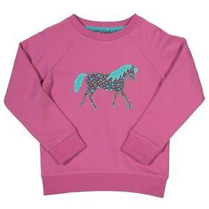 BNWT! Embroidered pony Sweatshirt. 100% Organic Cotton. Long Sleeve. UK Stock.