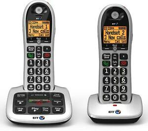 BT 4600 Twin Big Button Digital Cordless Telephones with Advanced Call Blocker