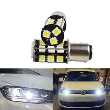 2x 27SMD LED DRL P21W 6000K Xenon White Bulbs Daytime light Side light VW Caddy