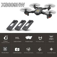 Visuo Xs809Hw Rc Quadcopter Wifi Fpv Foldable Selfie Drone 2Mp 3 Battery