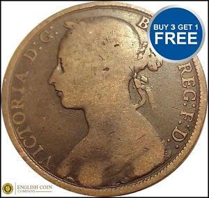 Victoria Penny Bun Head Pennies Choose your date 1860-1894 POOR OR BETTER