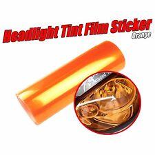 Orange Headlight Tint Film Wrap Tail Fog Lamp Smoke Overlay 2 x 30cm x 40cm