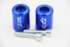 Blue Hand Bar Ends For Kawasaki Ninja 250 500 Zx600 Zx6 636 Zzr600 Zx6R Zx6Rr