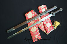 Traditional hand-made four images and Tai Chi sword Medium carbon steel Rosewood