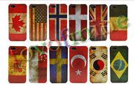 Vintage Retro National Flag Hard Case Cover Skin For Apple iphone 5 5S SE