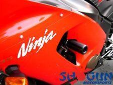 Kawasaki 1996-2003 ZX7R ZX7-R Shogun Frame Sliders Cut Version - Black