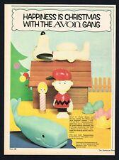 AVON SOAPS AD CHARLIE BROWN SNOOPY ADVERT Original 1969 Vintage Print Ad*Retro