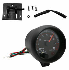 New Inch Car Tachometer Tacho Gauge Meter 0-8000 12V Rpm With Black background