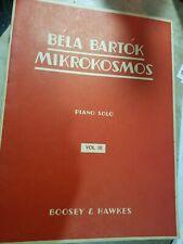 "Boosey & Hawkes ""Bela Bartok: Mikrokosmos- Piano Solo"" Songbook 1940"