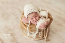 Crochet Costume Owl Toys Newborn Photography Prop Set Knit Hat Baby Photo Outfit