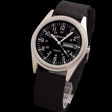 Wancher Field Aluminum Black Dial JAPAN Quartz Men's Military Watch Authentic