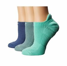 3 Pair Nike Women's Dri Fit Cotton Cushioned No Show Tab Training Socks Medium