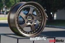 18x8.5 18x9.5 Inch +30/35 ESR SR02 5x114.3 Bronze Wheels Rims Civic Evo WRX 350z