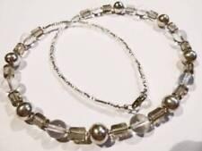 Handgefertigte versilberte Modeschmuck-Halsketten & -Anhänger mit Perlen