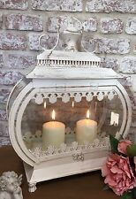 Large Shabby French Country Chic Cream Lantern Candle Holder Home Decor New