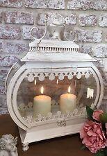 Gran País Francés Shabby Chic Crema Linterna Sostenedor de Vela Decoración del hogar NUEVO
