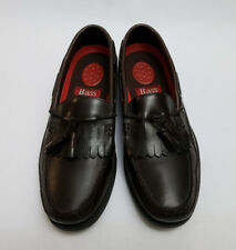 Bass Shoes Loafers Slip On Tassel Burgundy Henry II Mens Size 11.5