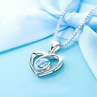 With Love Heart Fashion Romantic For Chain Gift Necklace Jewelry Pendant Women