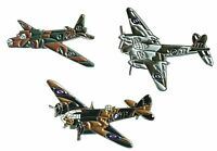 WW2 RAF Wellington Blenheim & Mosquito Military Aircraft Metal Enamel Badge Set