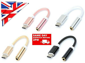 USB TYPE C TO 3.5mm AUDIO AUX HEADPHONE CABLE ADAPTER For Android SAMSUNG HUAWEI