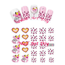 20 nail stickers water transfer-PINK PANTHER-tattoo adesivi-BUY 3 GET 1 FREE!!!