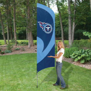 TENNESSEE TITANS 8.5 FOOT TALL TEAM FLAG 11.5' POLE SIGN BANNER  8 1/2' TAILGATE